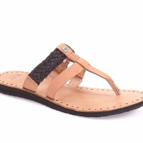 330602d5e6db UGG BRAIDED LEATHER THONG SANDALS Size 10. M 5b2cf020619745ea7f82671f